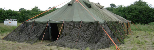 Canvas Tents Vintage & Vintage Military Tent Hire - Over The Moon Tents