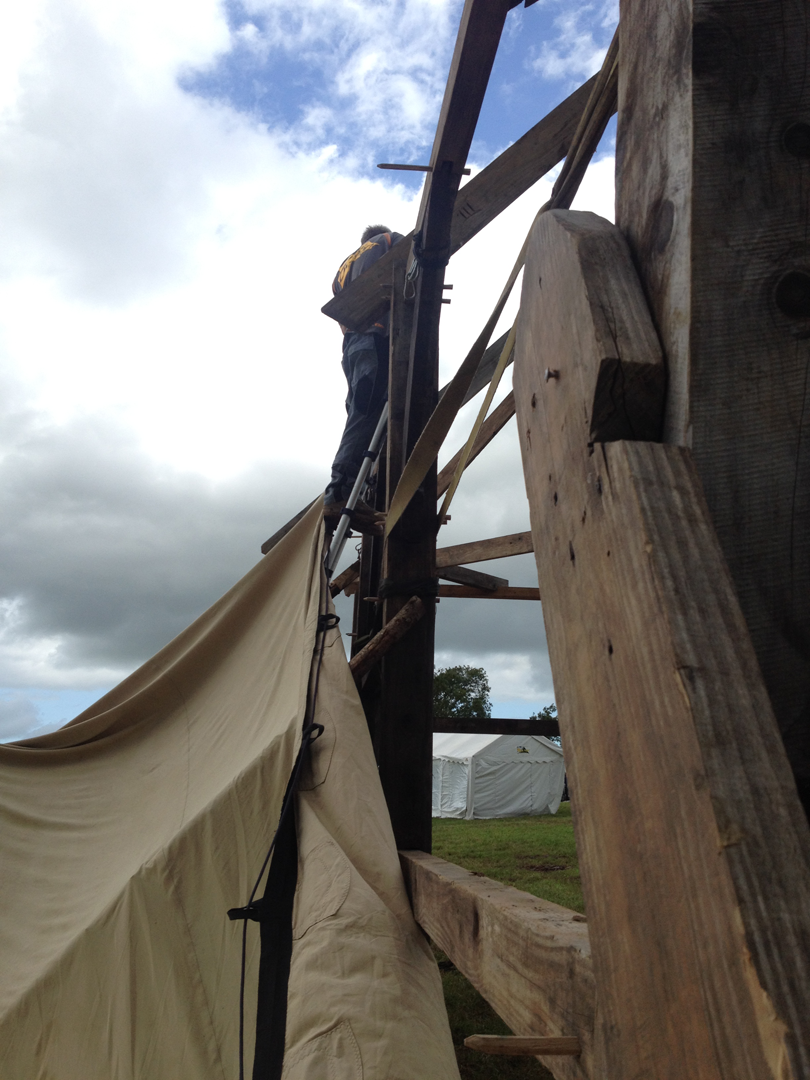 Timber Frame Stretch Tent venue, Valley fest, Somerset, 2015